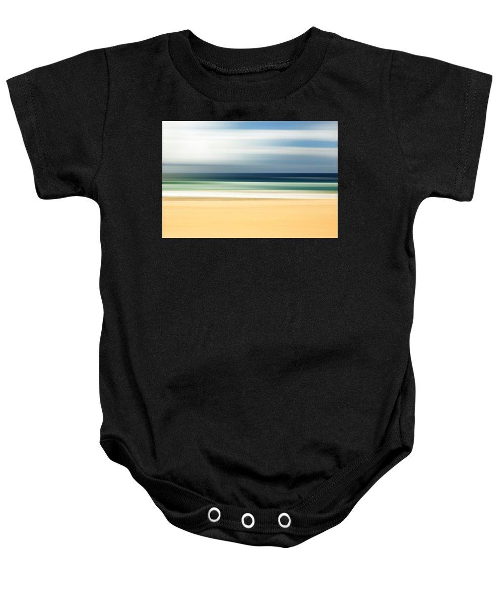 Beach Baby Onesie featuring the photograph Lone Beach by Az Jackson