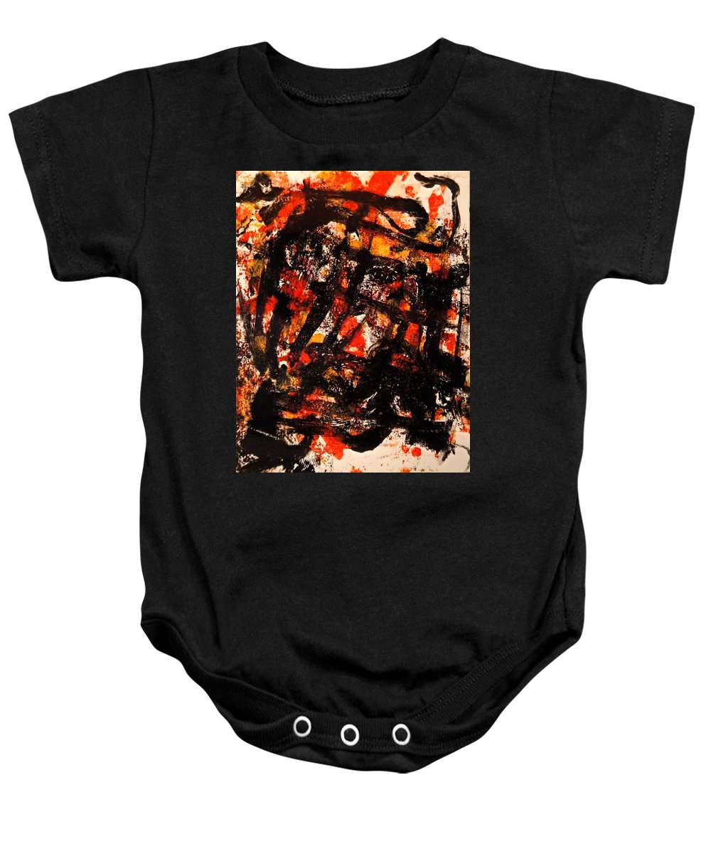 Expressionism Baby Onesie featuring the painting Loneliness by Natalie Holland