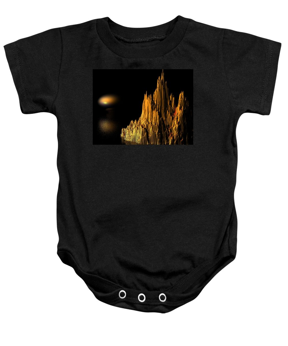 Surreal Baby Onesie featuring the digital art Loneliness by Oscar Basurto Carbonell