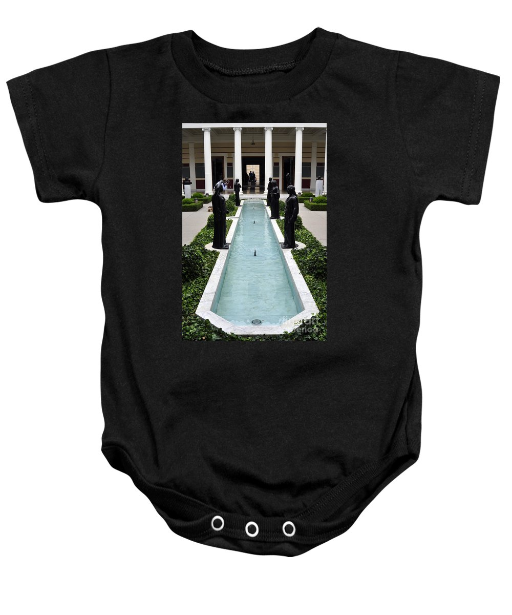 Clay Baby Onesie featuring the photograph Long Fountain by Clayton Bruster