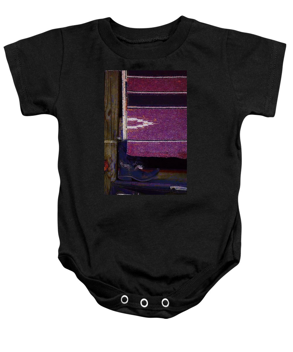 Boots Baby Onesie featuring the photograph Long Way Home4 by Donna Bentley