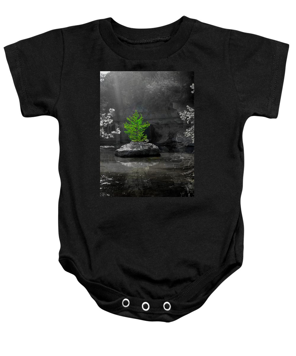 Original Art Work Baby Onesie featuring the photograph Look At Me by Laurette Escobar