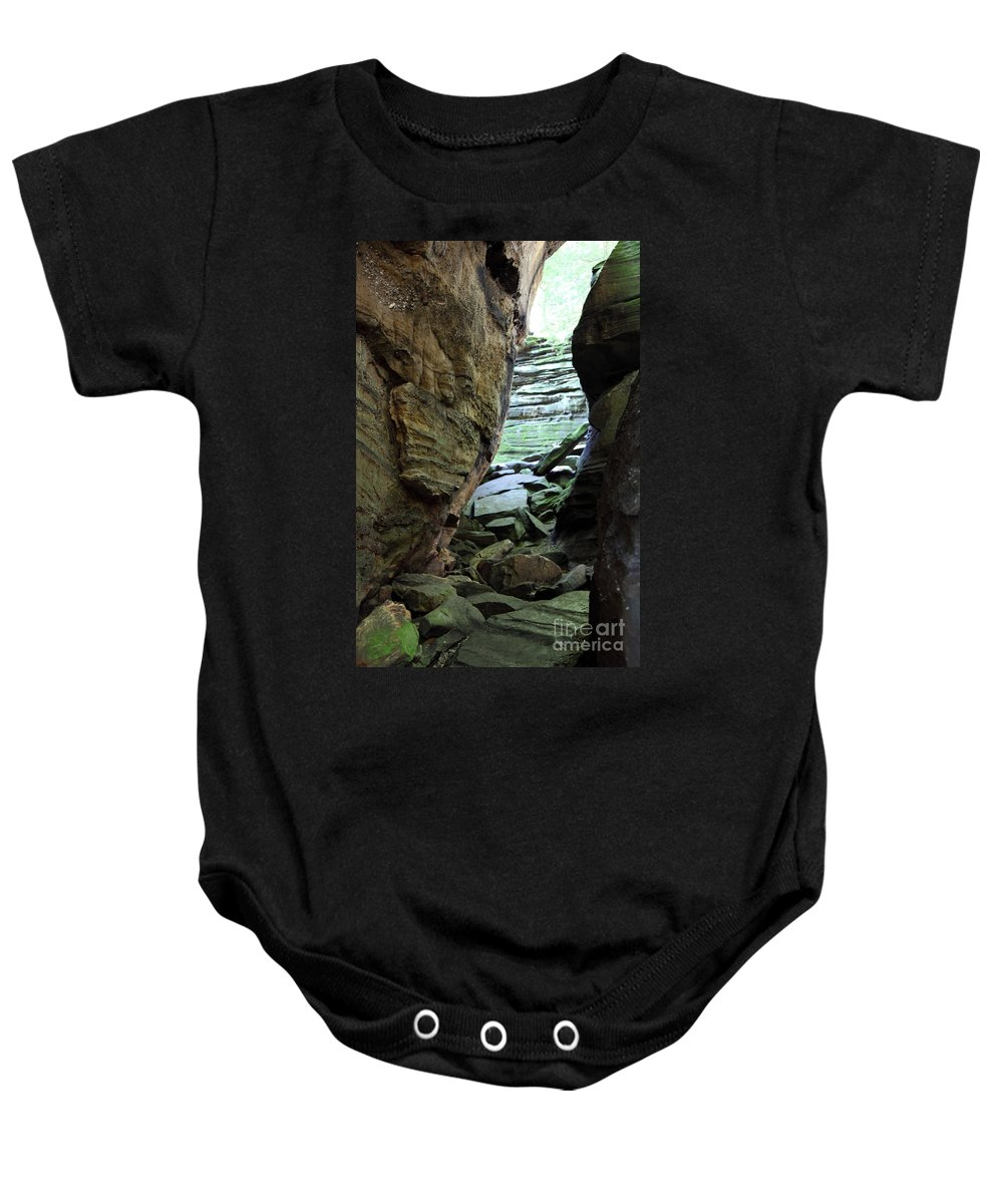 Faces Baby Onesie featuring the photograph Looking Glass by Amanda Barcon