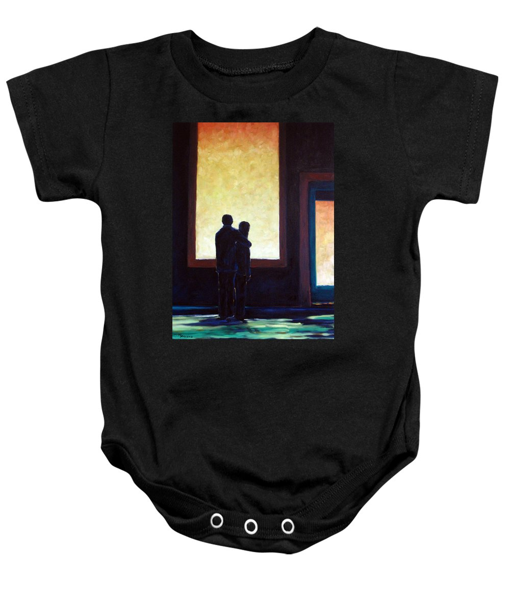 Pranke Baby Onesie featuring the painting Looking In Looking Out by Richard T Pranke