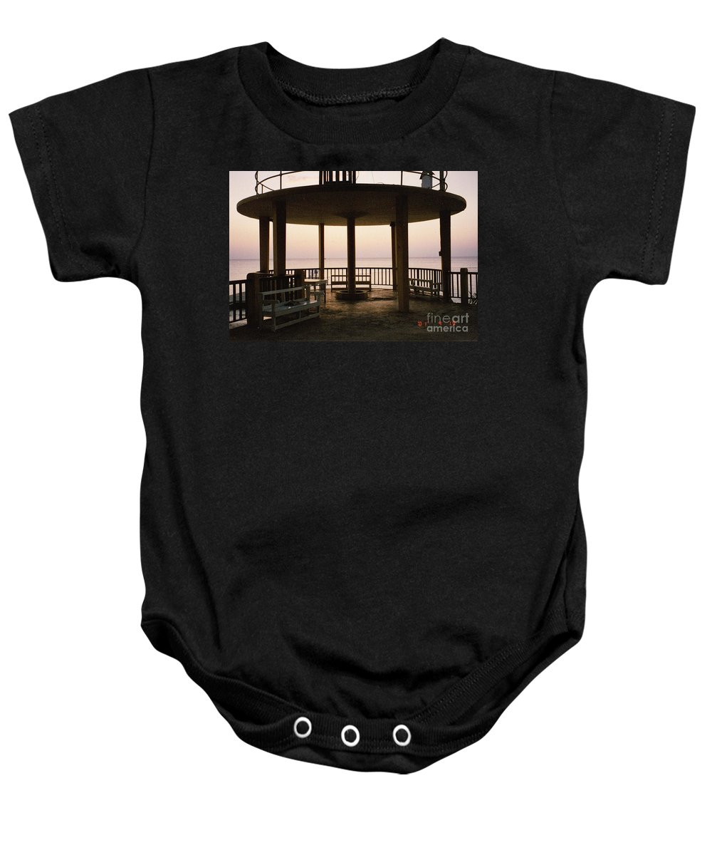 Sunsets Baby Onesie featuring the photograph Lookout Point by Michelle Powell