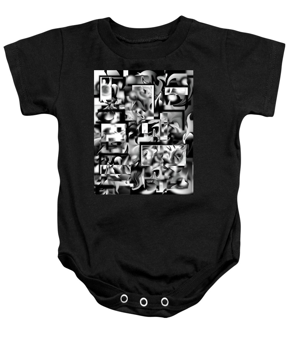 Abstract Baby Onesie featuring the digital art Lost In Dimension V by Betsy Knapp