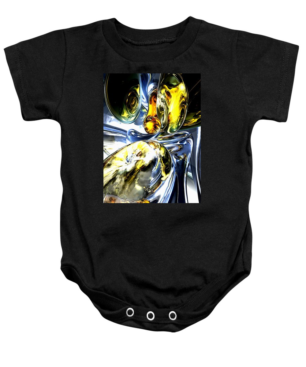 3d Baby Onesie featuring the digital art Lost In Space Abstract by Alexander Butler
