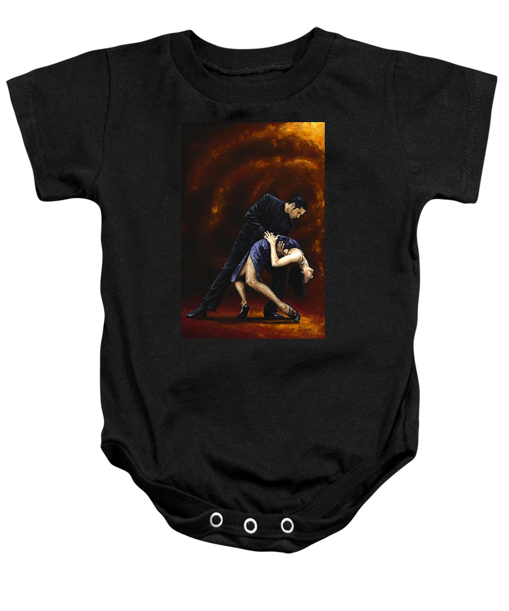 Tango Baby Onesie featuring the painting Lost In Tango by Richard Young