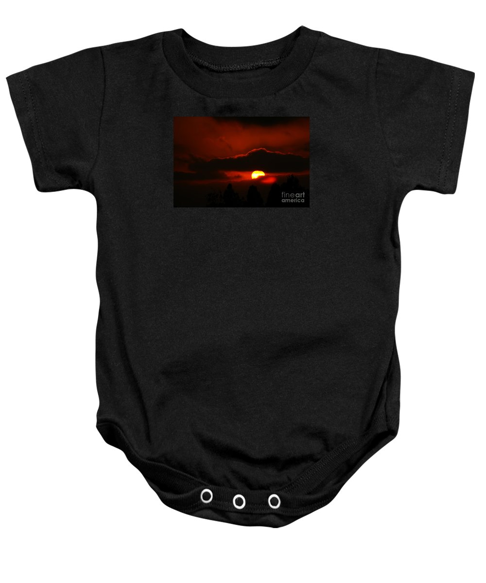 Sunset Baby Onesie featuring the photograph Lost In Thought by Linda Shafer