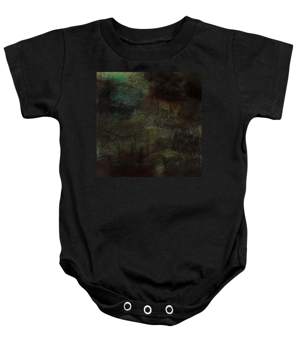 Abstract Baby Onesie featuring the digital art Lost Memories by Rachel Christine Nowicki