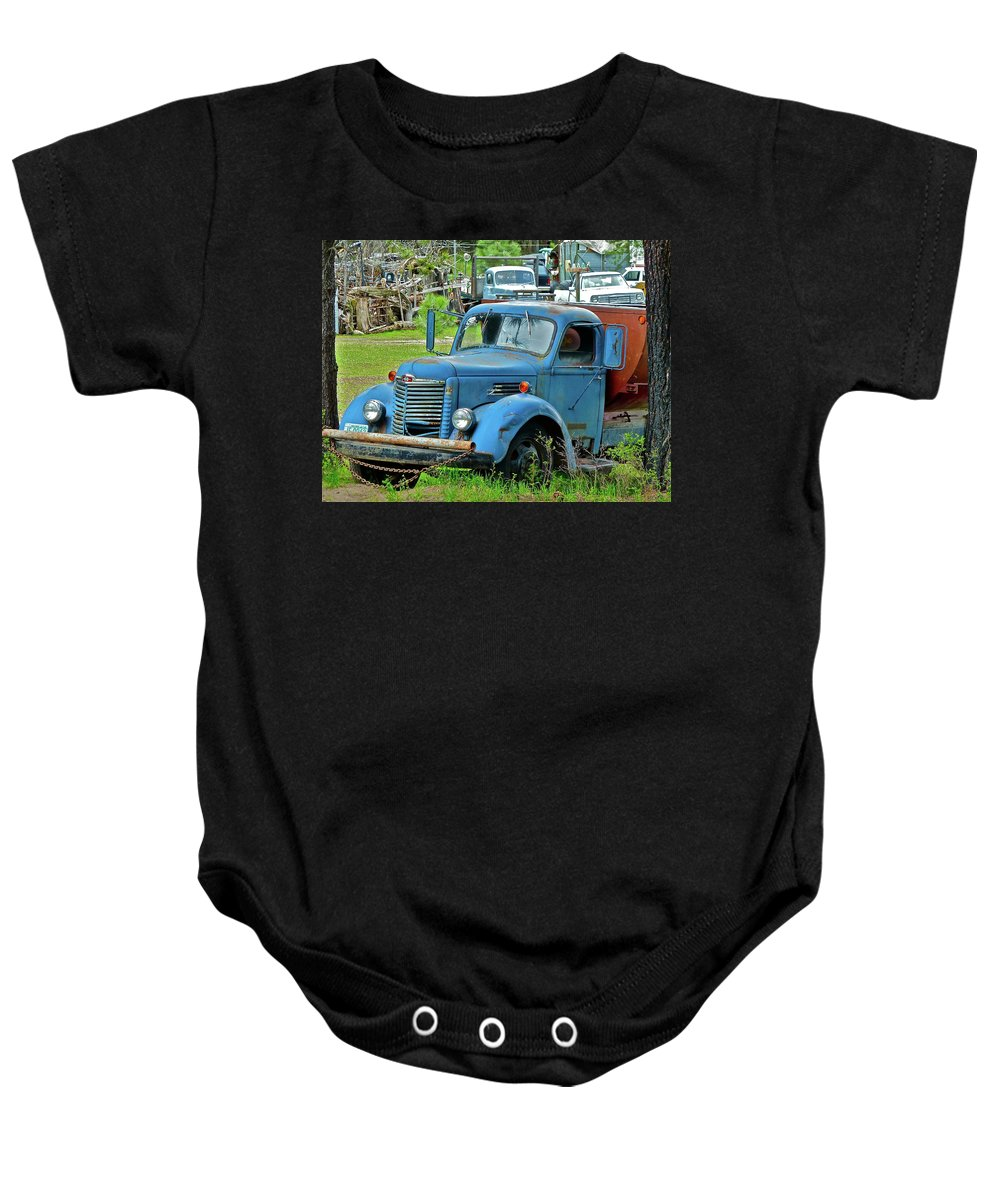 Truck Baby Onesie featuring the photograph Lost Pride by Diana Hatcher