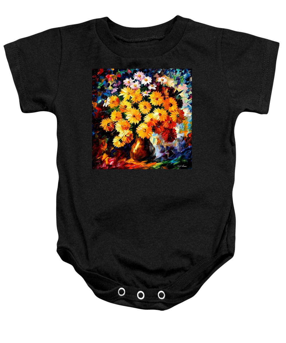 Flowers Baby Onesie featuring the painting Love Irradiation by Leonid Afremov