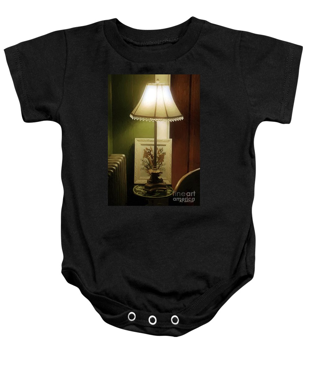 Glow Baby Onesie featuring the painting Lovelight by RC DeWinter