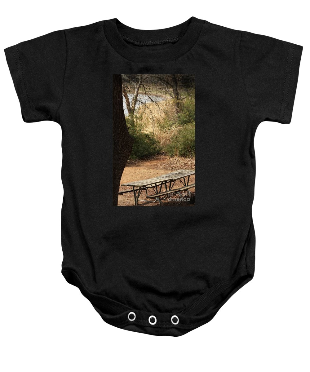 Nature Baby Onesie featuring the photograph Lovely Day For A Picnic by Kim Henderson