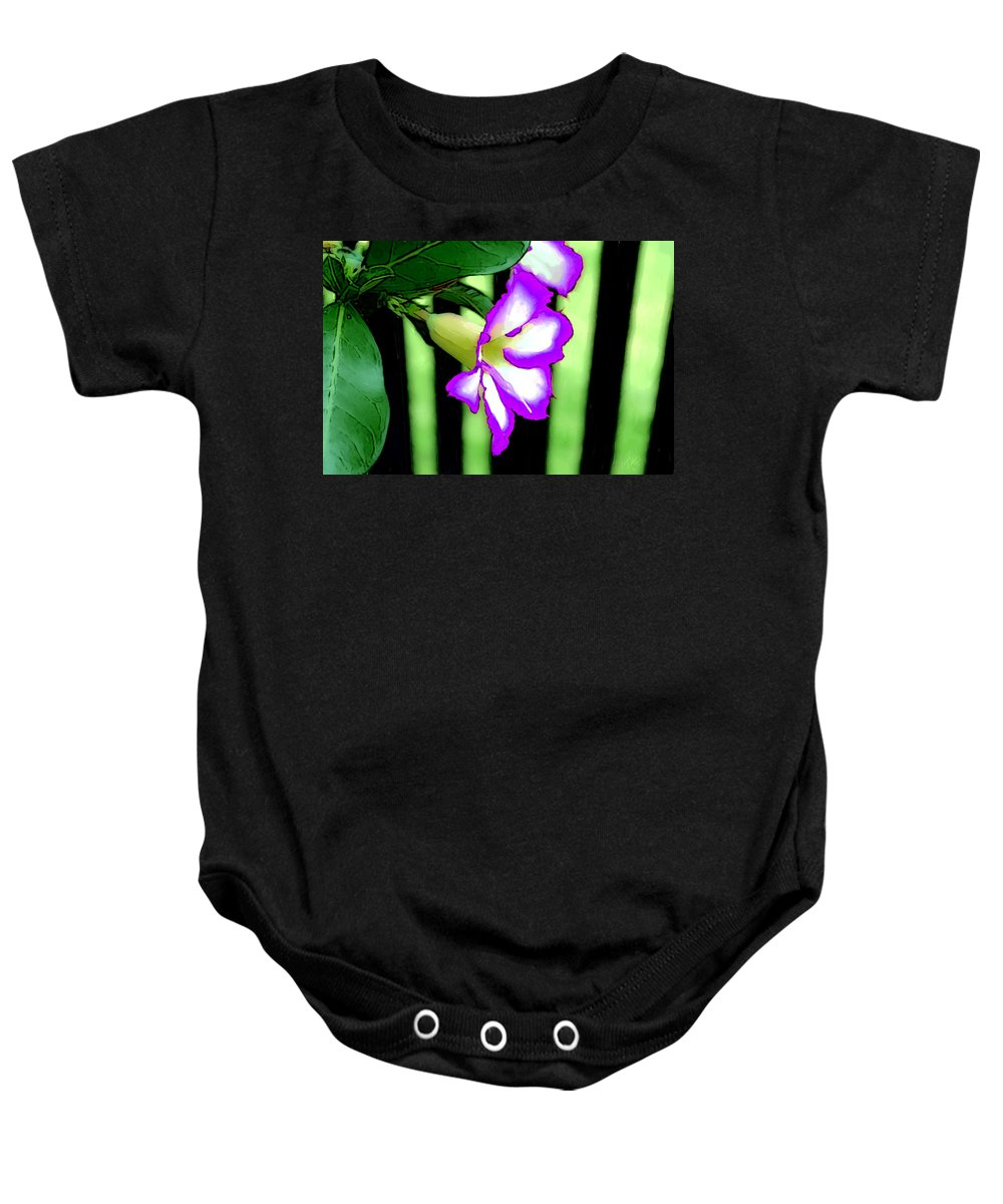 Bruce Baby Onesie featuring the painting Loving The Color Purple by Bruce Nutting