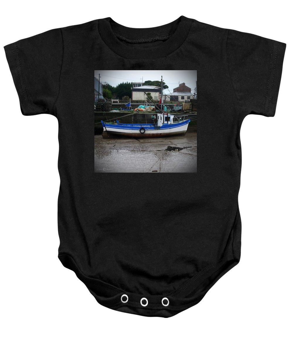 Boat Baby Onesie featuring the photograph Low Tide by Tim Nyberg