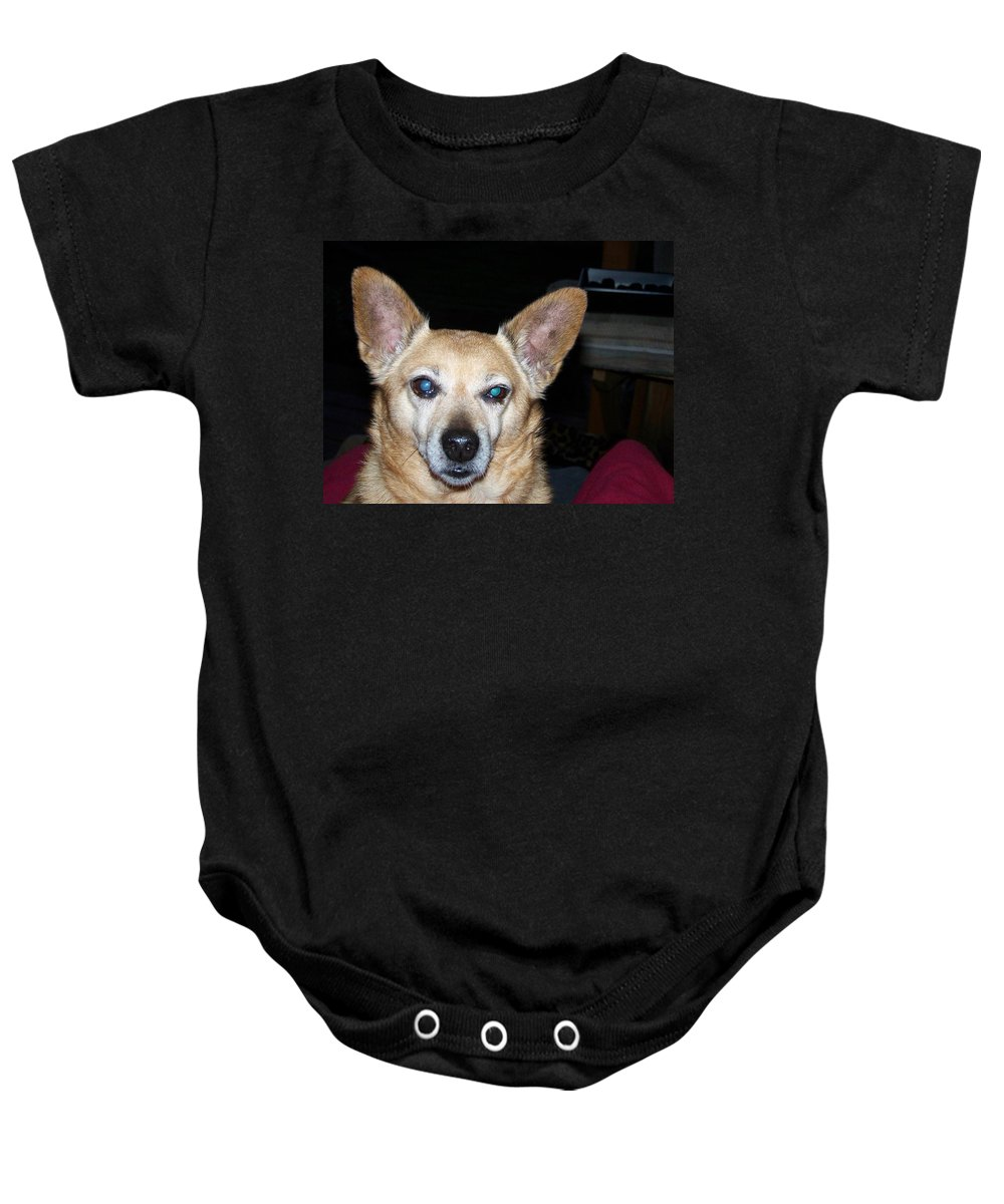 Digital Artwork Baby Onesie featuring the photograph Loyalty by Laurie Kidd