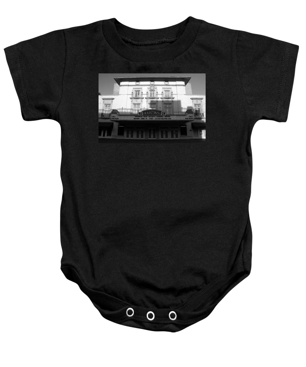 Faine Art Photography Baby Onesie featuring the photograph Lucas Movie House 1921 by David Lee Thompson