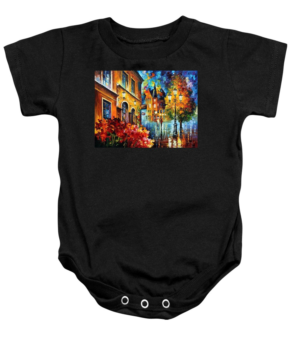 Afremov Baby Onesie featuring the painting Lucky Night by Leonid Afremov