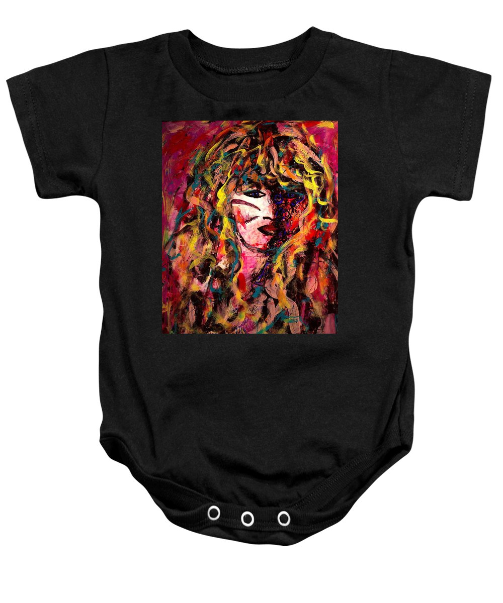 Dreams Baby Onesie featuring the painting Luna's Dream by Natalie Holland
