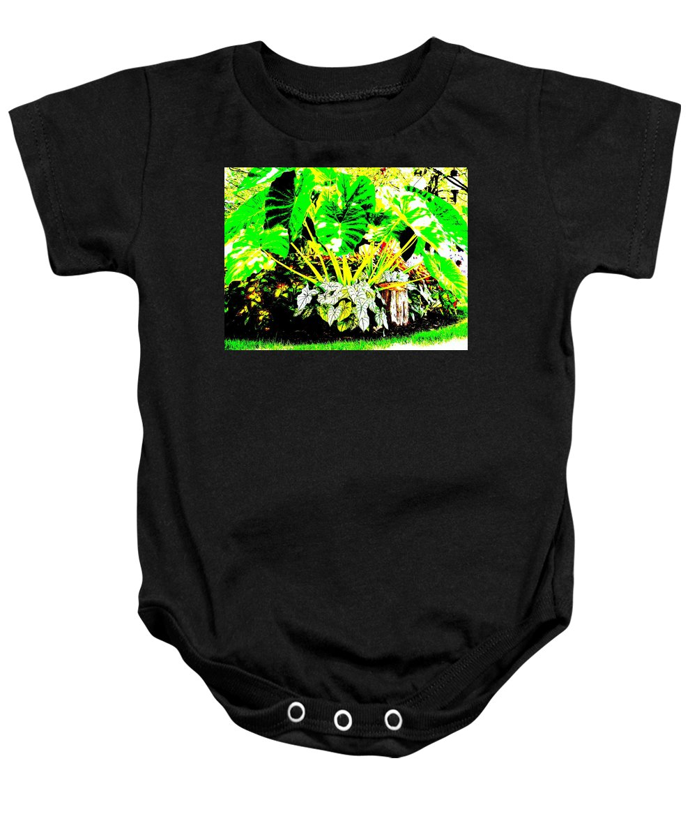 Plants Baby Onesie featuring the photograph Lush Garden by Ed Smith