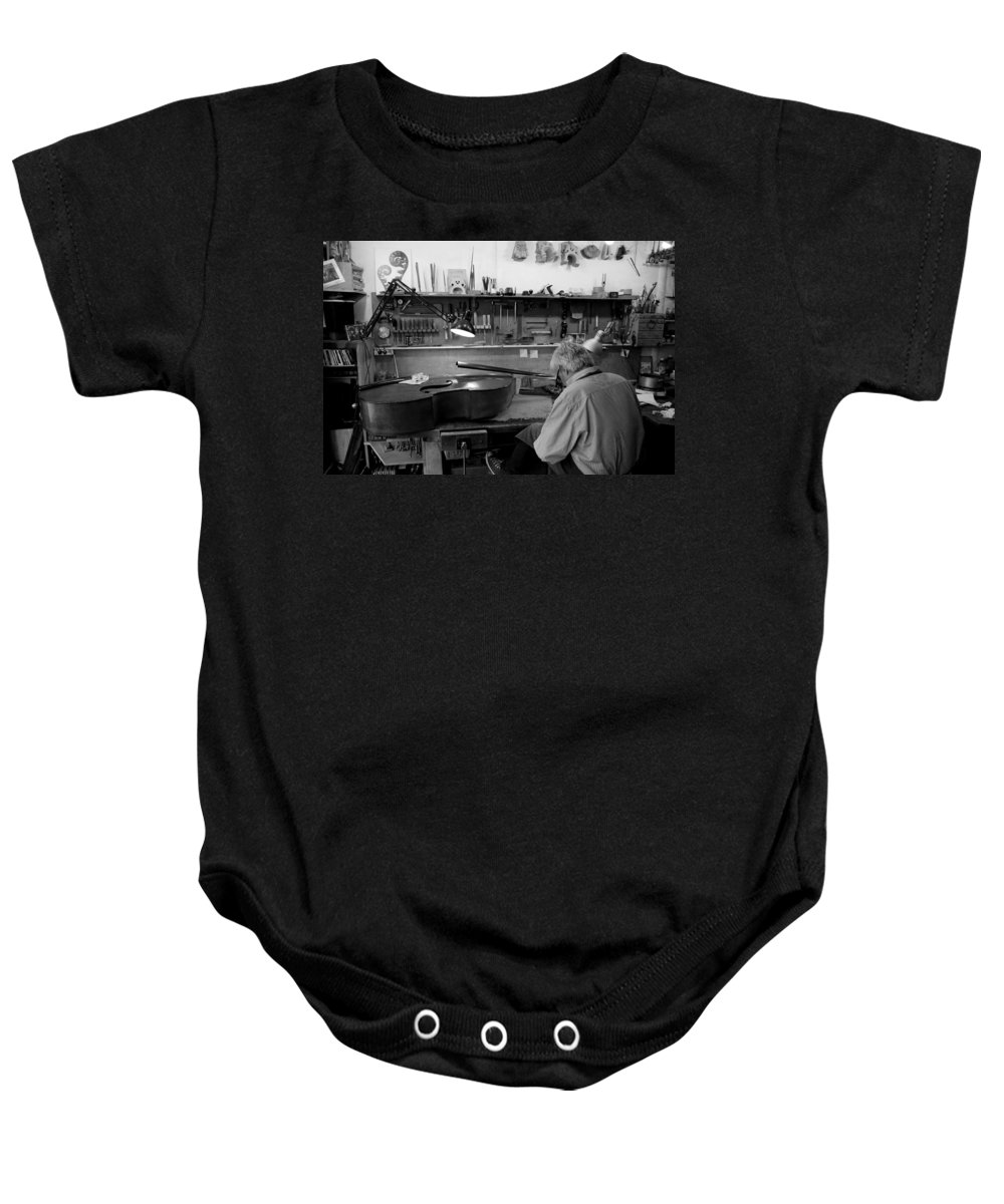 Luthier Baby Onesie featuring the photograph Luthier 1b by Andrew Fare