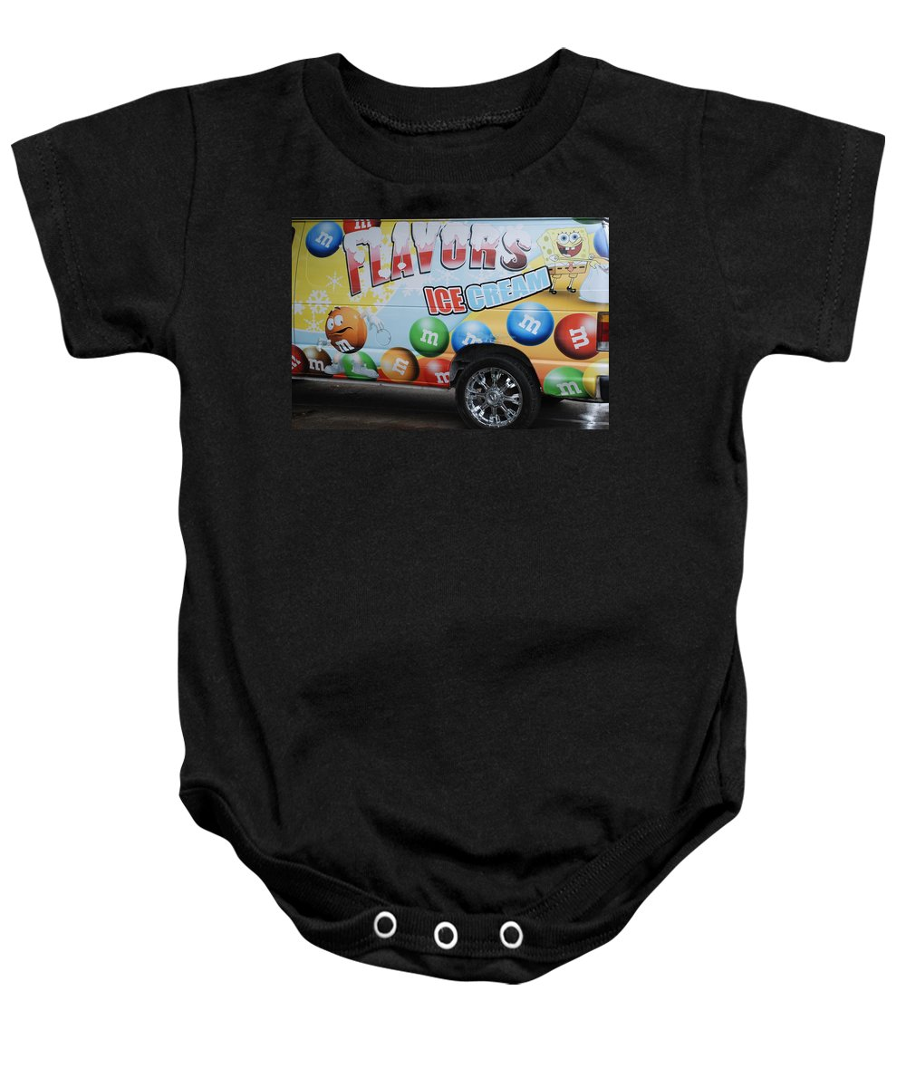 Sponge Bob Baby Onesie featuring the photograph M And M Flavors For The Kids by Rob Hans