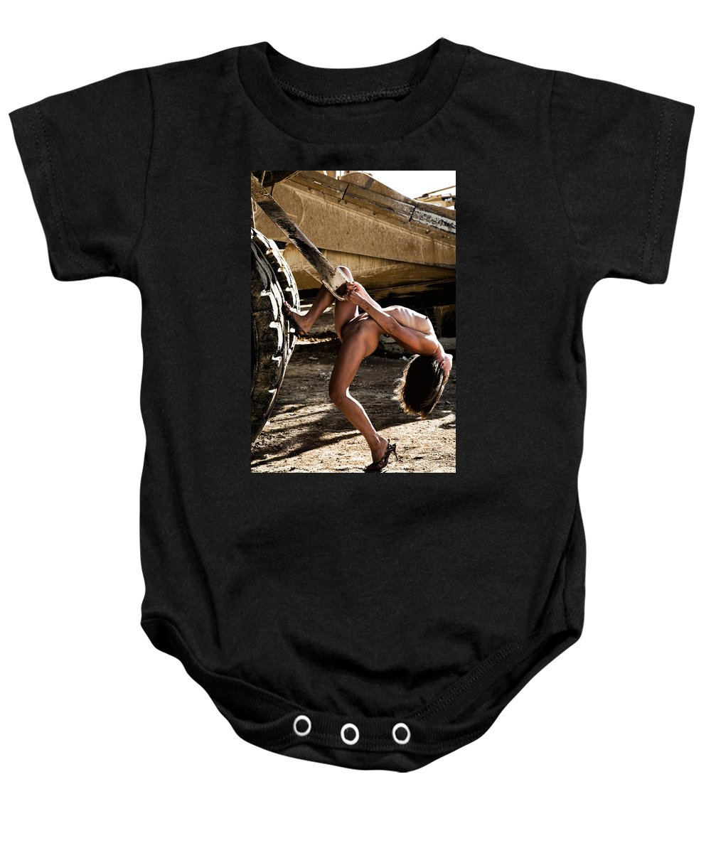 Sensual Baby Onesie featuring the photograph Machinery by Olivier De Rycke