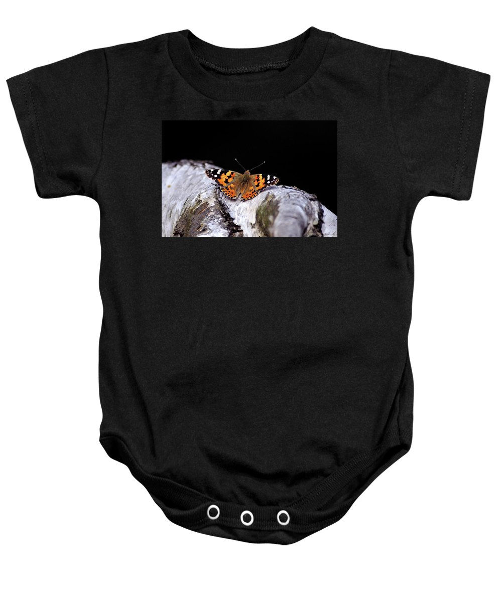 Butterfly Baby Onesie featuring the photograph Madame Butterfly by Ilaria Andreucci