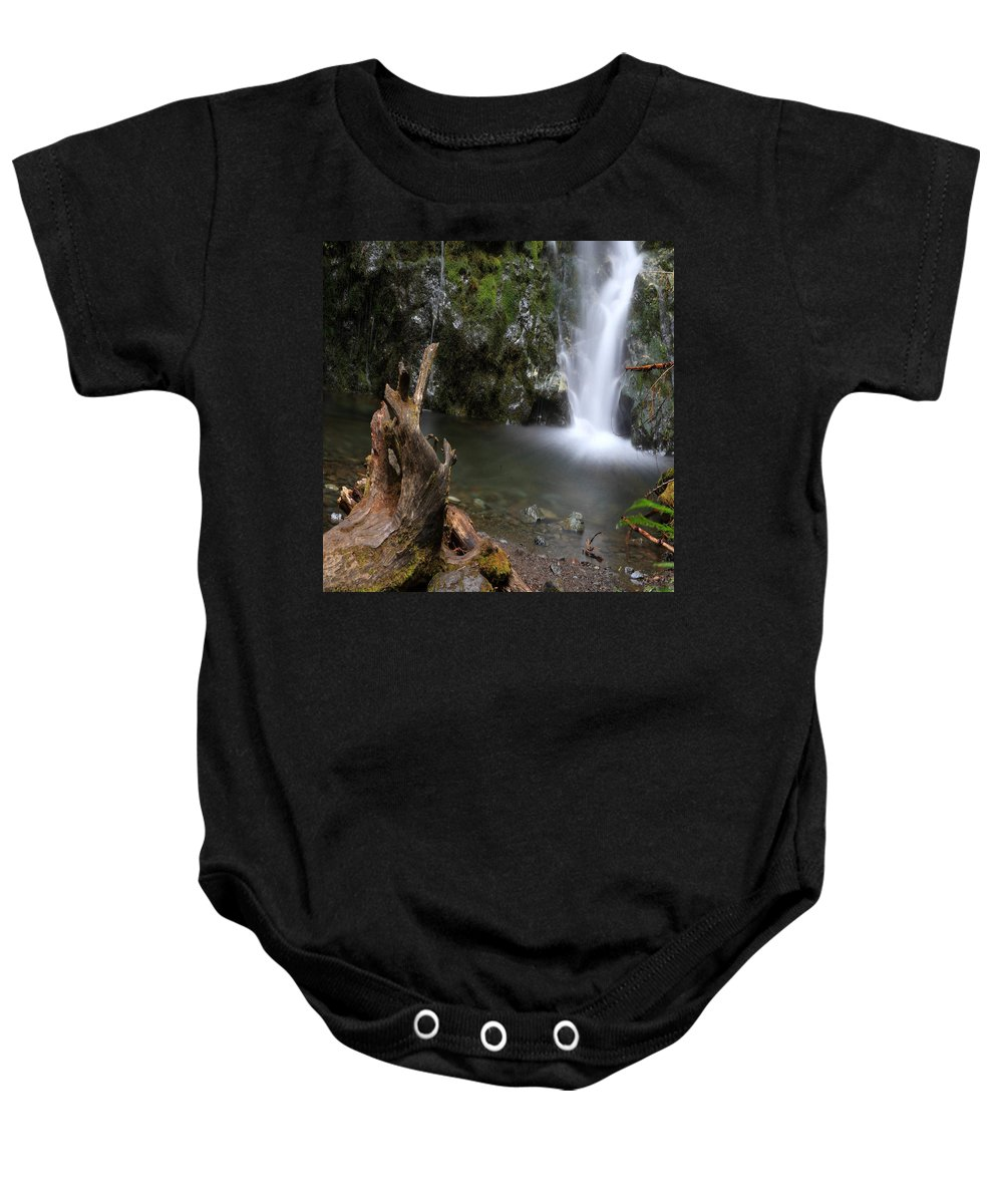 Columbia Gorge Baby Onesie featuring the photograph Madison Falls 3 by Ingrid Smith-Johnsen