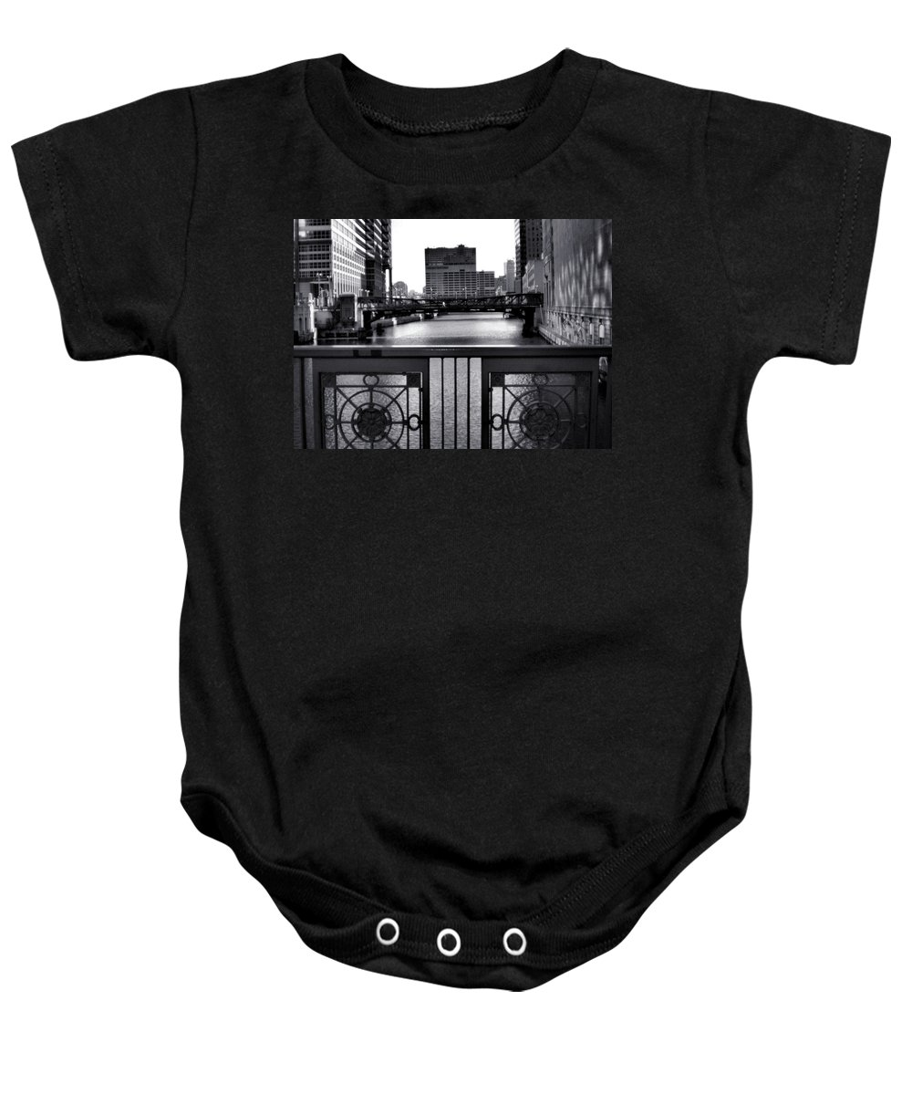 Madison Street Bridge Baby Onesie featuring the photograph Madison Street Bridge - 3 by Ely Arsha