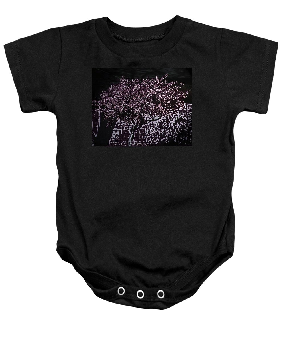 Abstract Baby Onesie featuring the digital art Magenta by Lenore Senior