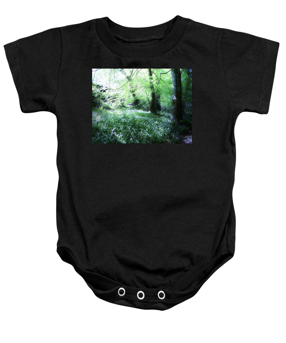 Irish Baby Onesie featuring the photograph Magical Forest At Blarney Castle Ireland by Teresa Mucha