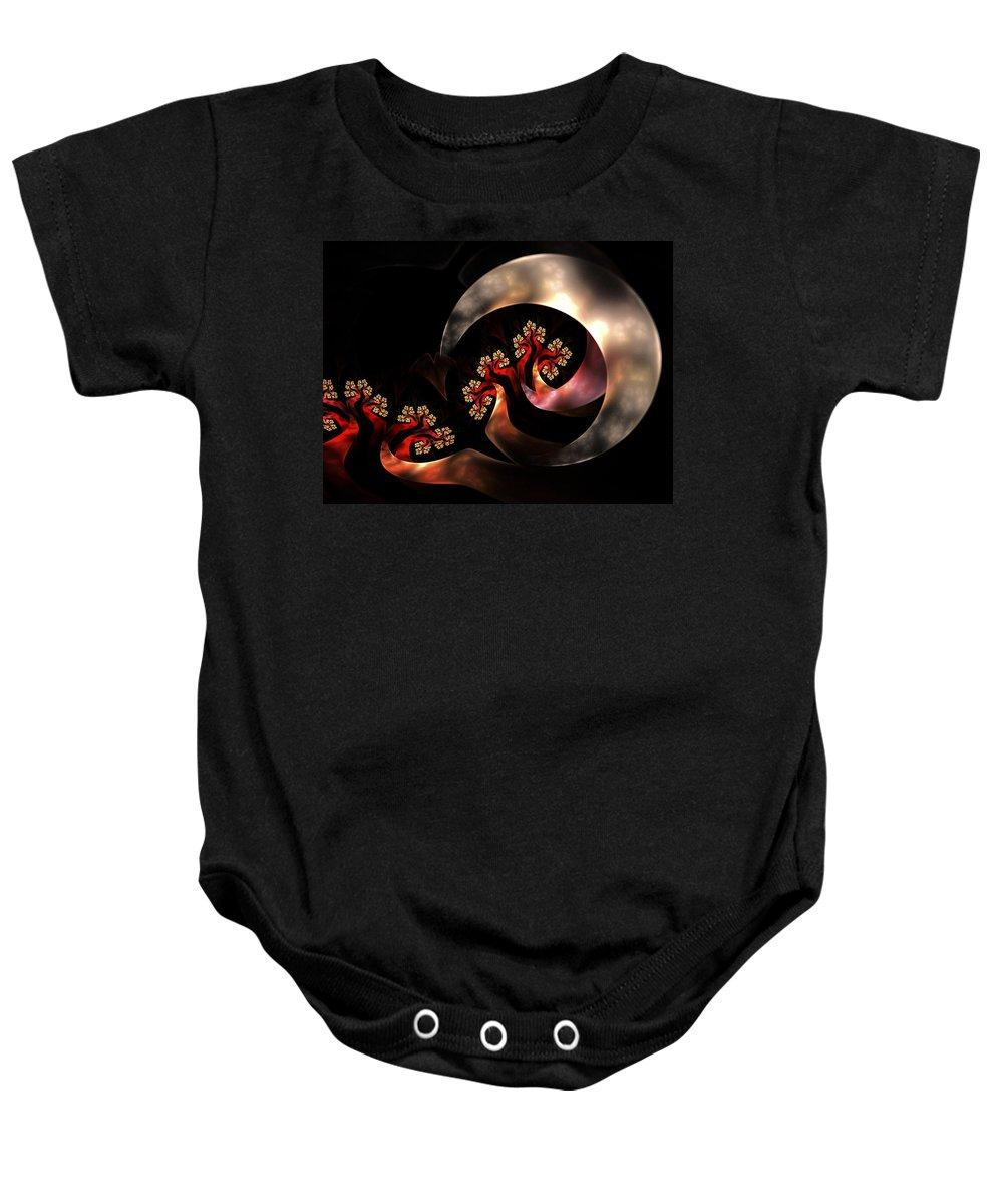Fractal Art Baby Onesie featuring the digital art Magical Moonlight by Amorina Ashton