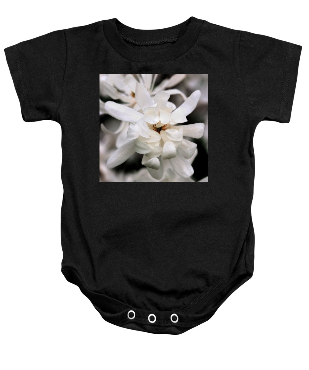 Flower Baby Onesie featuring the photograph Magnolia Square by Angela Rath