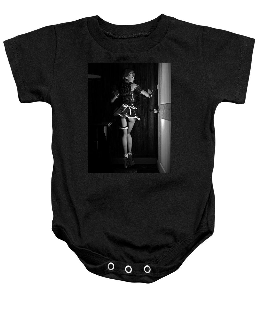 3d Baby Onesie featuring the digital art Maid Service by Alexander Butler