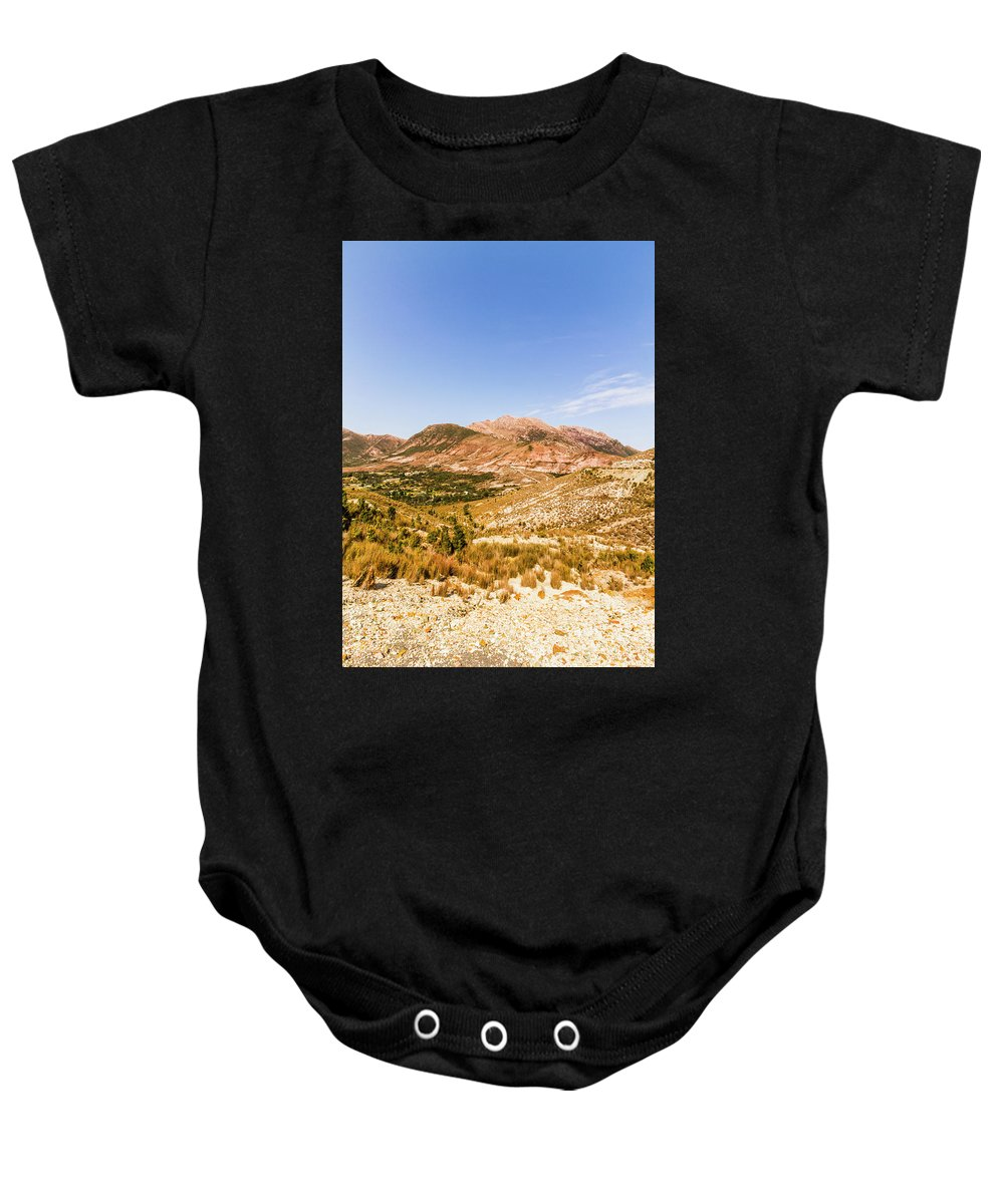 Australian Baby Onesie featuring the photograph Majestic Arid Peaks by Jorgo Photography - Wall Art Gallery