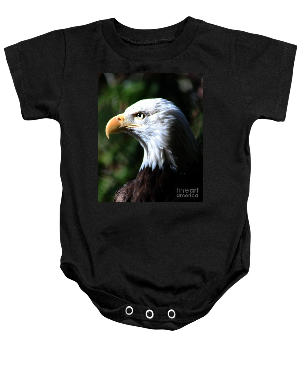 Eagle Baby Onesie featuring the photograph Majestic Bald Eagle by Nick Gustafson