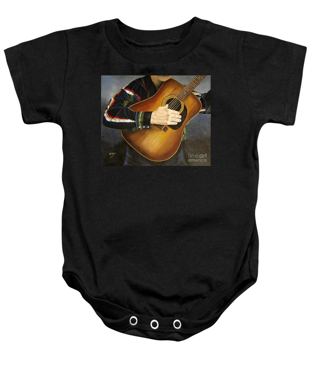 Usa Baby Onesie featuring the painting Making Music by Mary Rogers