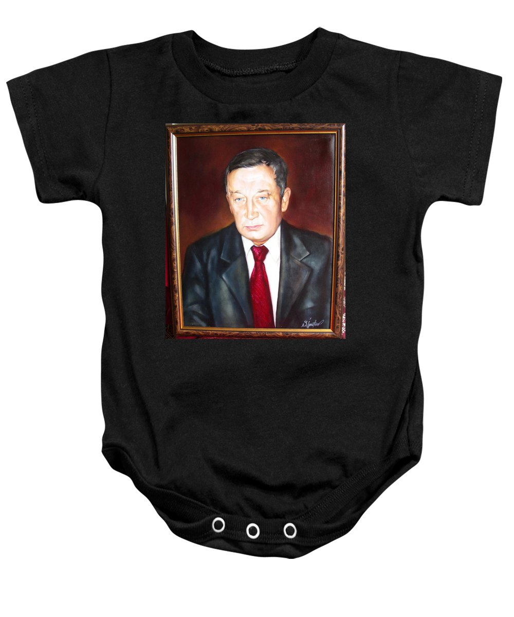 Art Baby Onesie featuring the painting Man 1 by Sergey Ignatenko