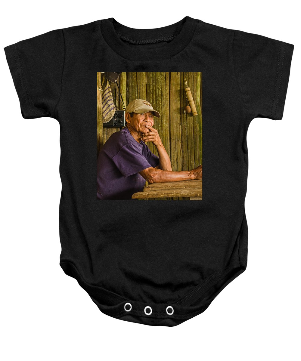 Peru Baby Onesie featuring the photograph Man Of The House by Allen Sheffield