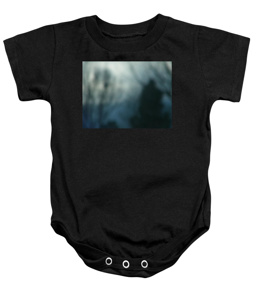 Abstract Baby Onesie featuring the photograph Man Walking In Shadows by Lenore Senior
