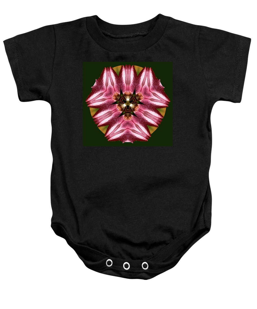 Floral Baby Onesie featuring the photograph Mandala Lady Slipper by Nancy Griswold
