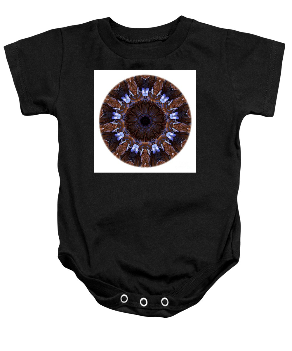 Talisman Baby Onesie featuring the digital art Mandala - Talisman 1436 by Marek Lutek