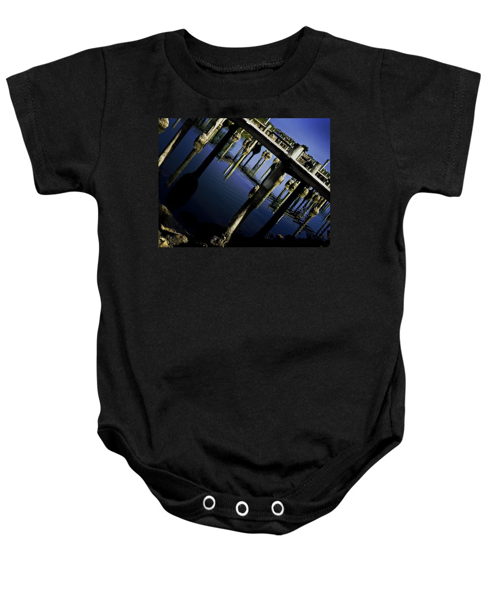 Marina Baby Onesie featuring the photograph Marina by Kelly Jade King