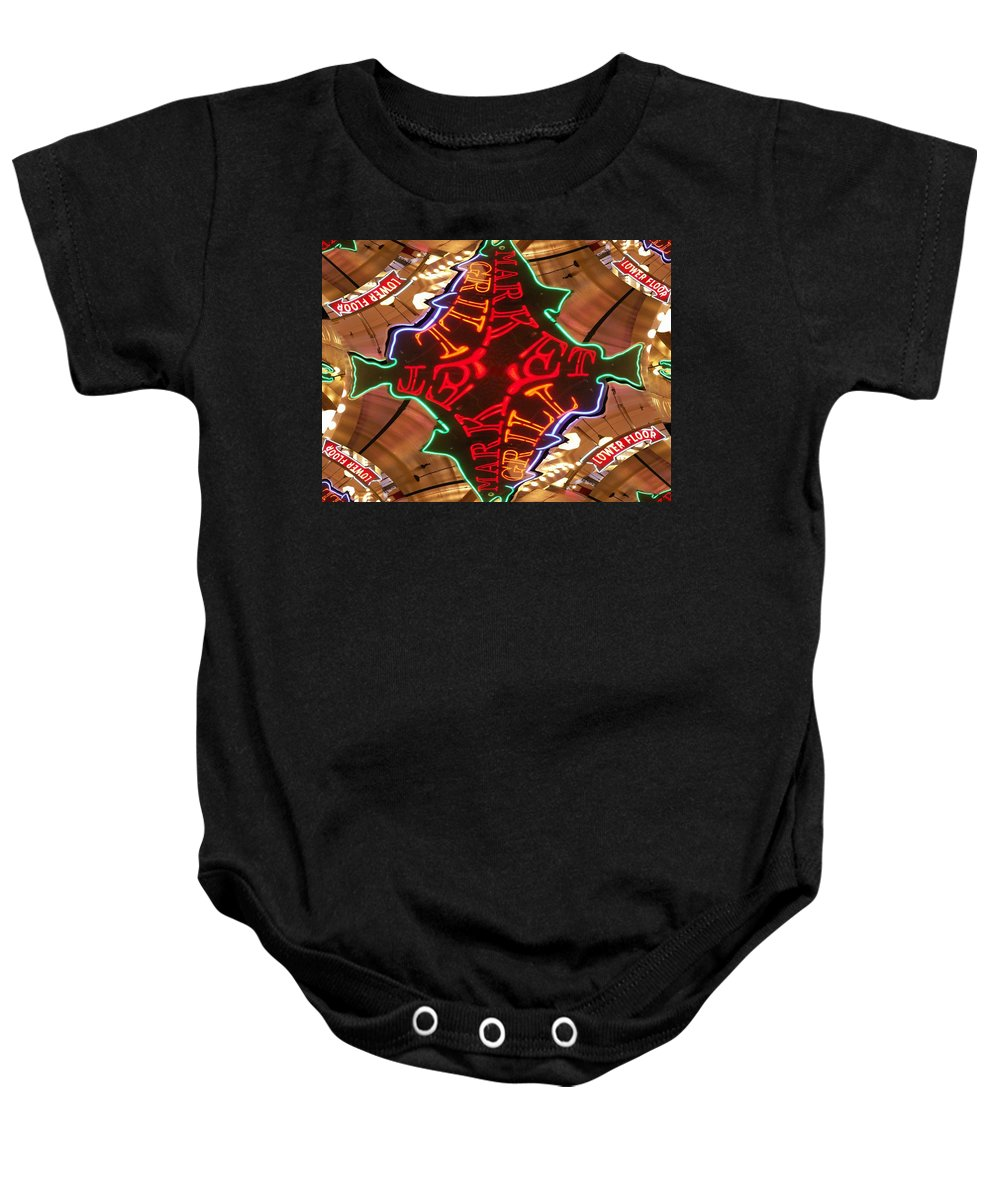 Seattle Baby Onesie featuring the photograph Market Grill by Tim Allen