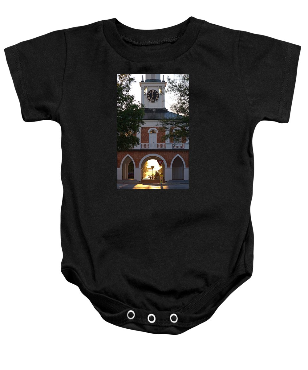 Market House Baby Onesie featuring the photograph Market House - Fayetteville by Matt Plyler