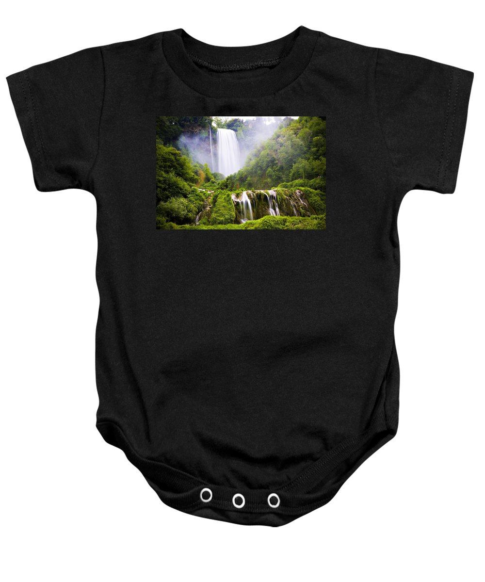 Italy Baby Onesie featuring the photograph Marmore Waterfalls Italy by Marilyn Hunt