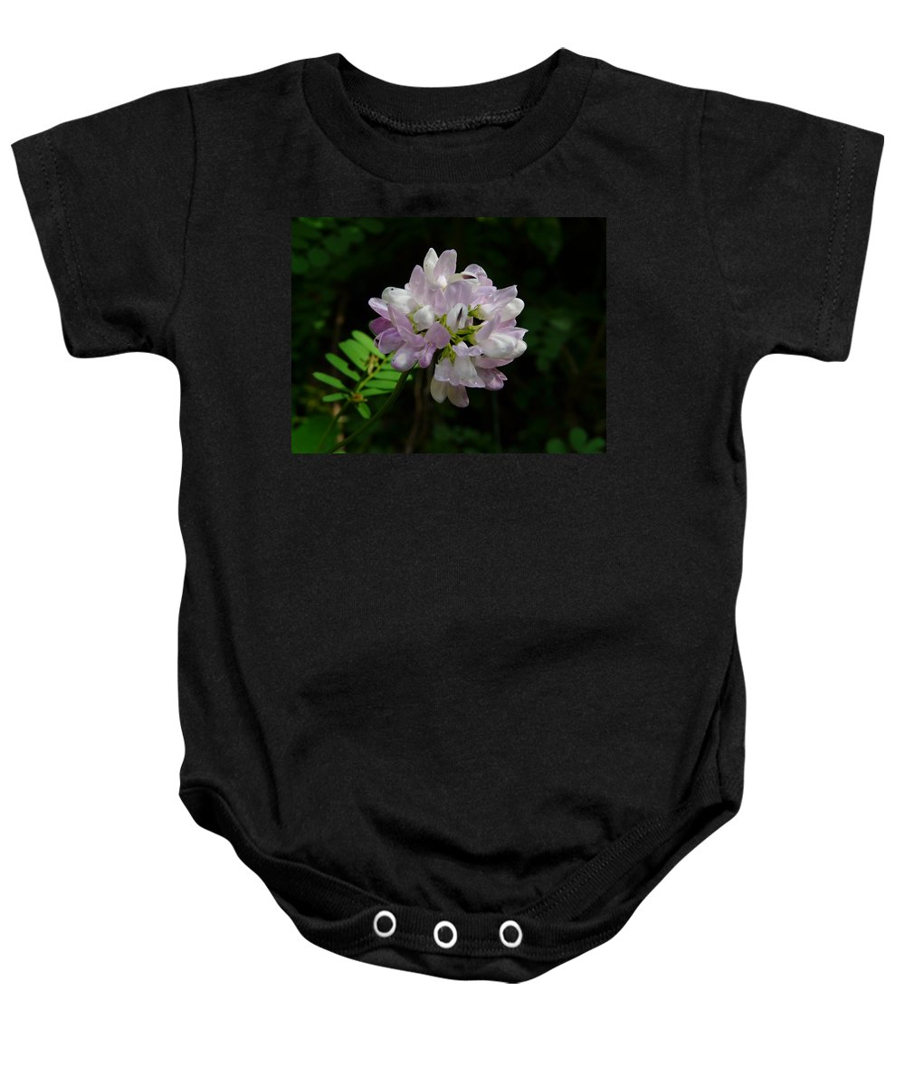 Flower Baby Onesie featuring the photograph Mauve Flower by Valerie Ornstein