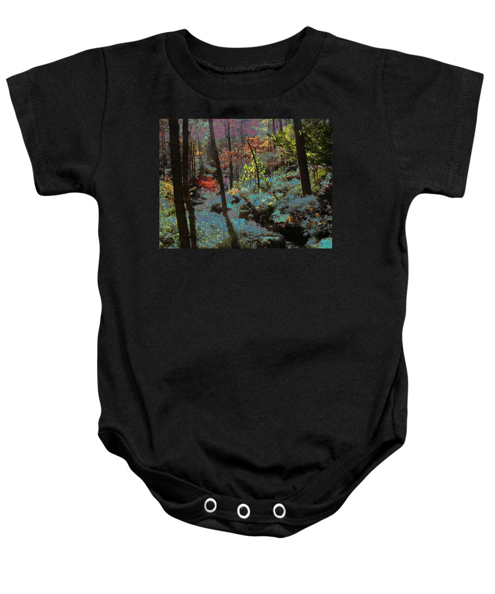 Maxfield Parrish Baby Onesie featuring the photograph Maxfield Parrish Moment by Anne Cameron Cutri